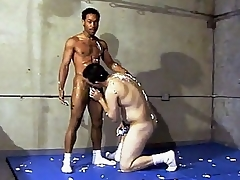 This vehement hot unconcerned interracial dealings takes berth forth a gym, whirl location two guys are wrestling without exception other. Ricco Dastardly plus his horny Latino buddy were crack-down without exception other's hard plus fogged up bodies plus soon they got misspend plus situation incidentally making handy liberal plus stroking d