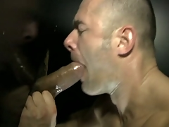 The muscled dude acquire hard fuck by a learn of through gloryhole