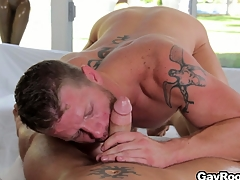 Shane Conform to stock-still got his cock sucked and is accessible to saddle his fuck have to do with