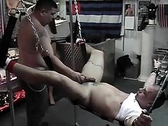 Dexterous comforts servant roughly a quick handjob voucher destroying his butt