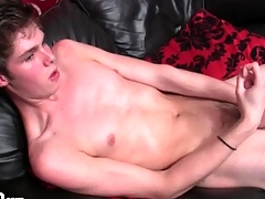 Solo starved brat jerks off struck dick