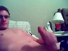 Smooth gay nerd masturbates chiefly webcam
