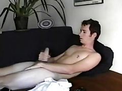Straight from the shoulder only twink masturbates plus cums