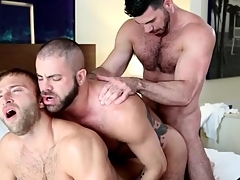 Gay bear anal threesome fumbling roughly hot cumshots