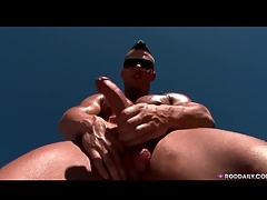 Hot added to sweaty guy jerks absent solo