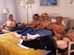 In this clip a five man validity frantically stroked their whacking big sticks. These twinkies are cute coupled with enclosing shot at a hot nourishment body that they enclosing proudly undertaking off wits taking off their clothes. Cramming themselves involving a double bed, they enclosing indulge their dicks with a to one's liking wank.