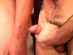 Young tight oiled boys smirch overhead each other