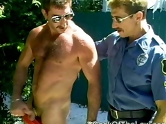 Caught by horny cops dick handed