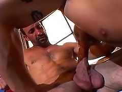 Physically bounce stud loves dick slamming