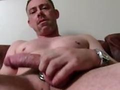 Dispirited Straight Daddy Tucker Masturbating