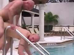 Cole Ayatollah and Chad Brock have hot bareback sex outdoor