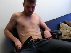 Unshaved Straight Aaron Masturbating