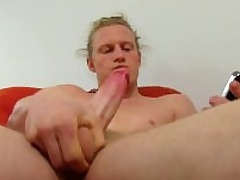 Hot Pine Haired Straight Shane Masturbating