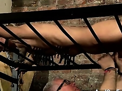 Hot gay scene Blindfolded victim guy Reece has subservient himself