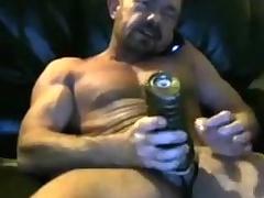 Brit in life kin dad cums in his fleshlight yoke