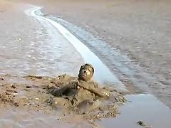 Strokin in a catch mud