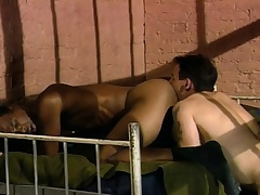 Several sexy and lustful guys enjoying hardcore anal action in return bars