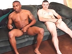 Duo gorgeous studs manufacture out of reach of the sofa with an increment of take it on the lam their cocks