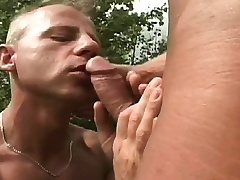 Gay studs rebuttal out in the pasture to swell up dick and drills an asshole